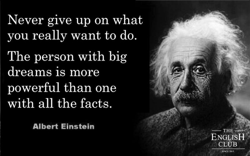 英語の名言:Albert Einstein