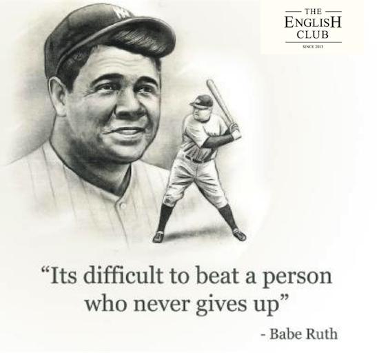 英語の名言:Babe Ruth