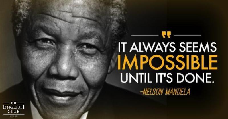 英語の名言:Nelson Mandela
