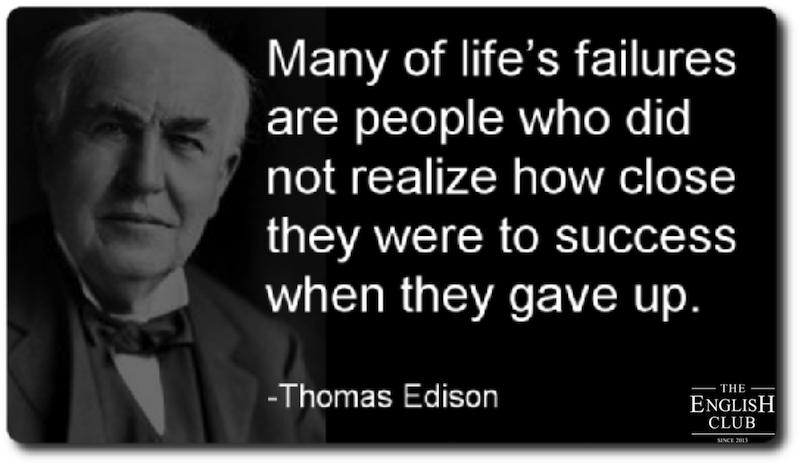 英語の名言:Thomas Edison