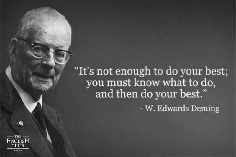 英語の名言:W. Edwards Deming