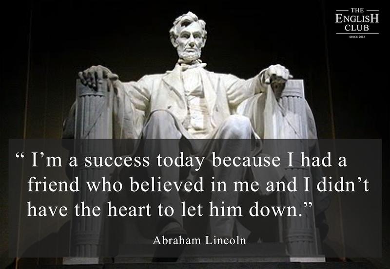 英語の名言:Abraham Lincoln