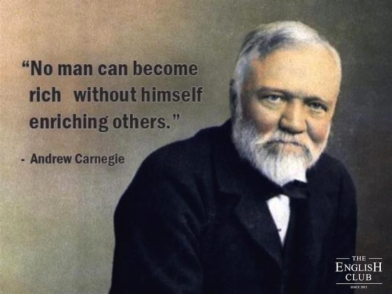 英語の名言:Andrew Carnegie