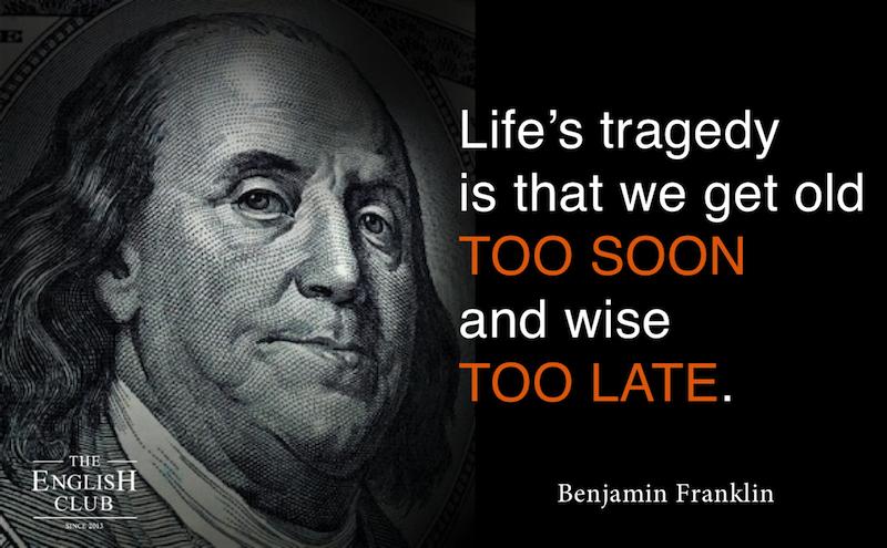 英語の名言:Benjamin Franklin