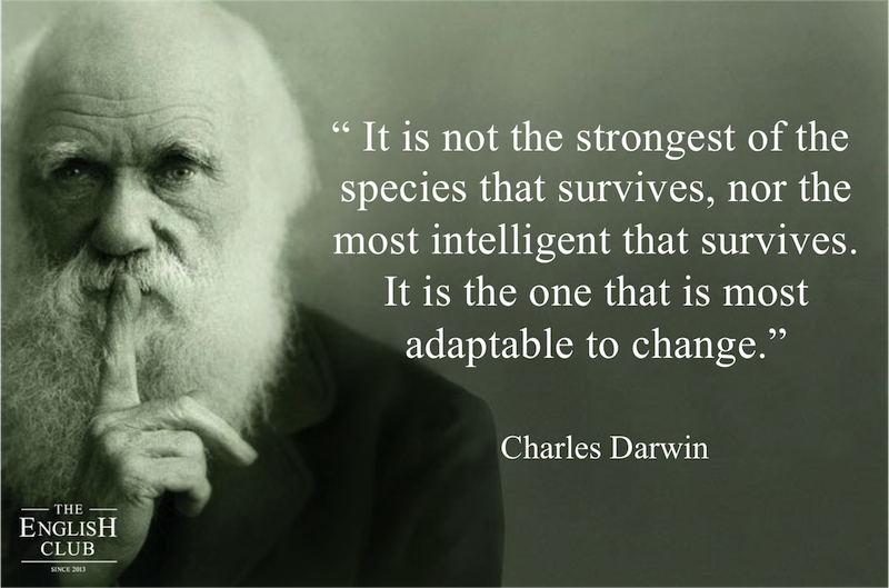 英語の名言:Charles Darwin