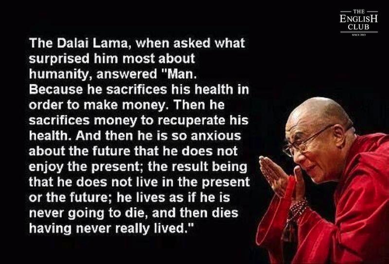 英語の名言:Dalai Lama