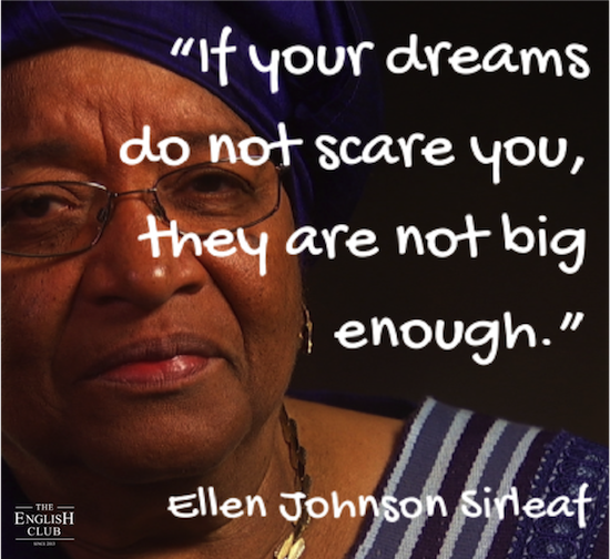 英語の名言:Ellen Johnson Sirleaf