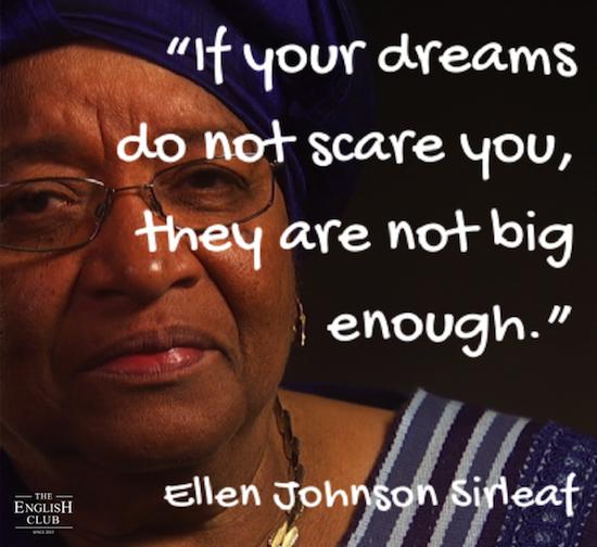 英語の名言:Ellen Johnson Sirleaf