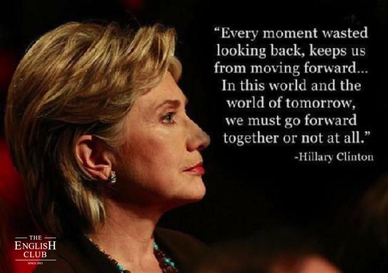 英語の名言:Hillary Clinton