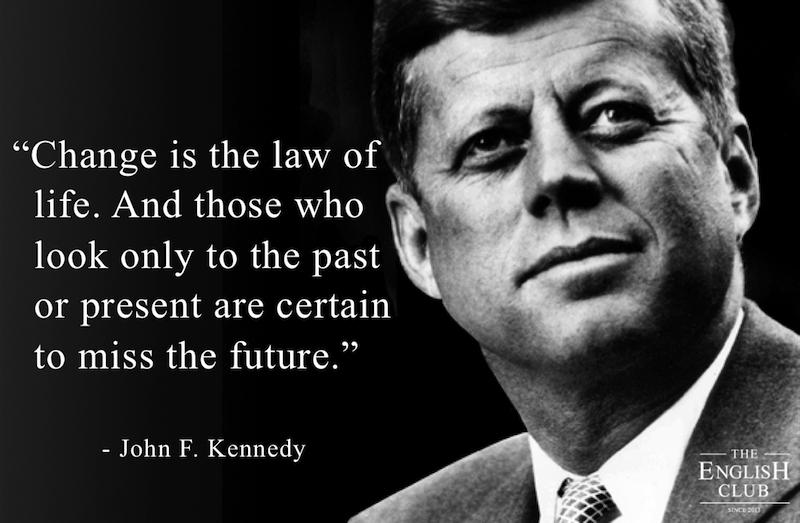 英語の名言:John F. Kennedy