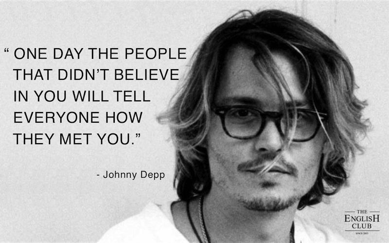 英語の名言:Johnny Depp