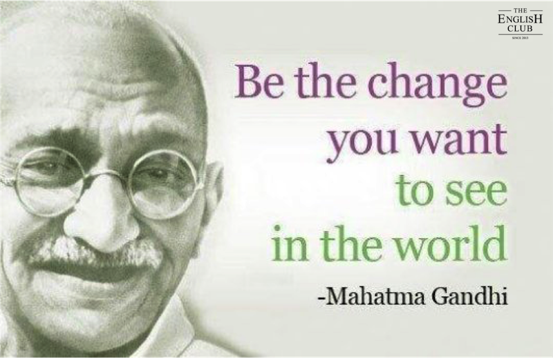 英語の名言:Mahatma Gandhi