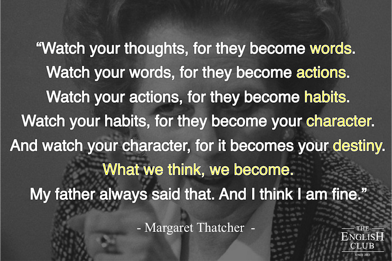 英語の名言:Margaret Thatcher