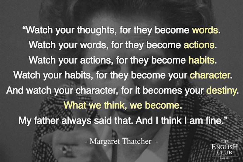 英語の名言:Margaret Thatcher