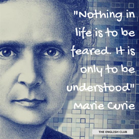 英語の名言:Marie Curie