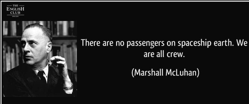 英語の名言:Marshall McLuhan