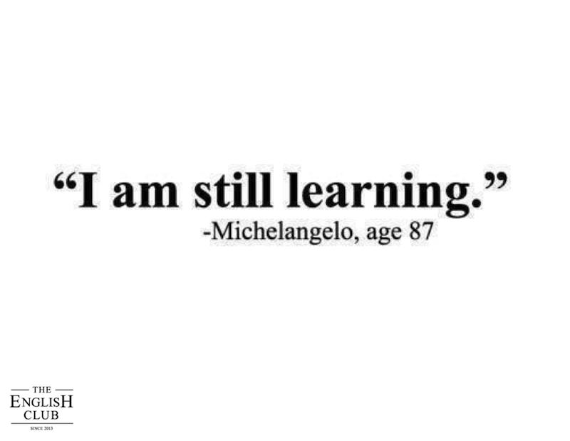 英語の名言:Michelangelo