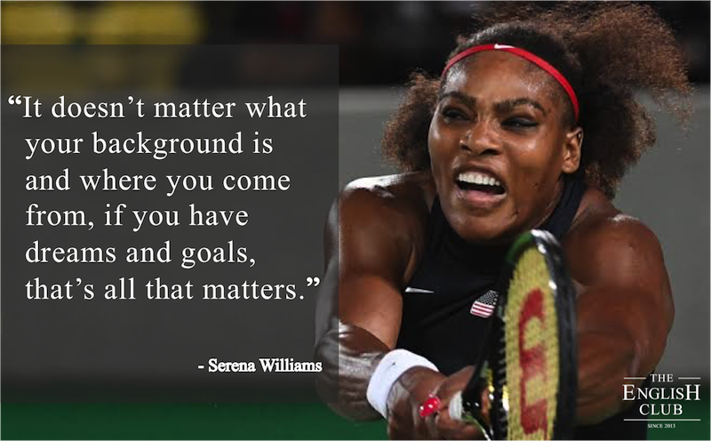 英語の名言:Serena Williams