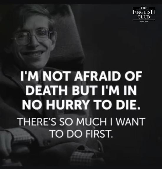 英語の名言:Stephen Hawking
