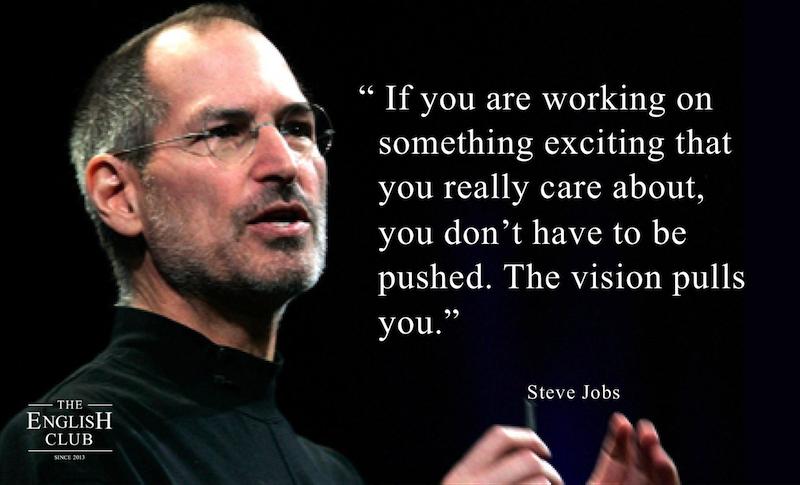 英語の名言:Steve Jobs