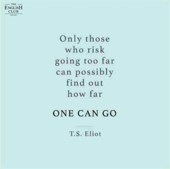 英語の名言:T.S.Eliot