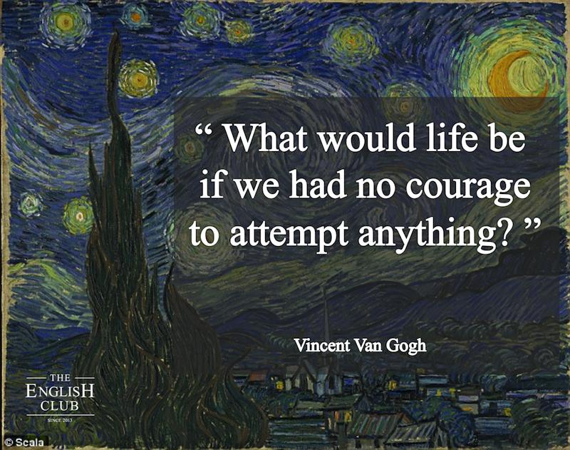 英語の名言:Vincent Van Gogh