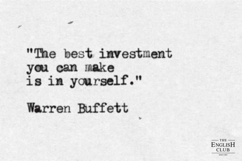 英語の名言:Warren Buffet