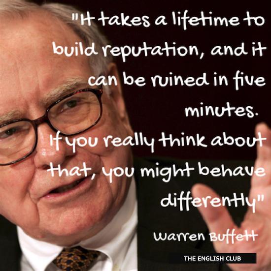 英語の名言:Warren Buffett