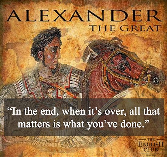 英語の名言:Alexander the Great