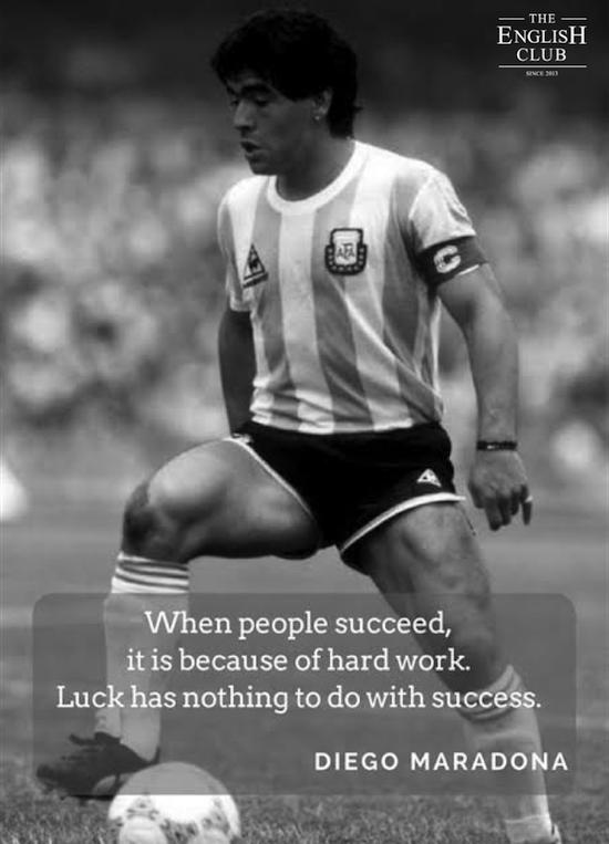 英語の名言:Diego Maradona