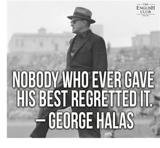 英語の名言:George Halas