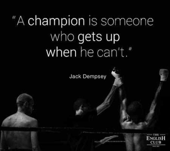 英語の名言:Jack Dempsey