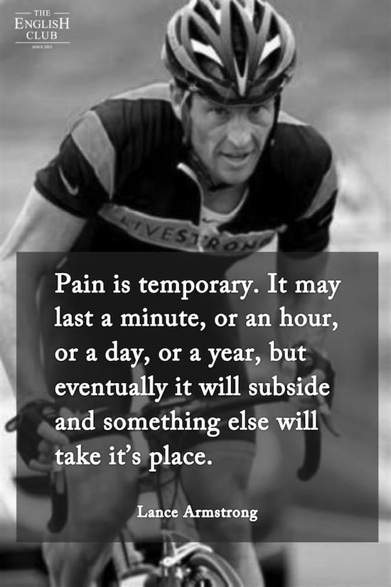 英語の名言:Lance Armstrong