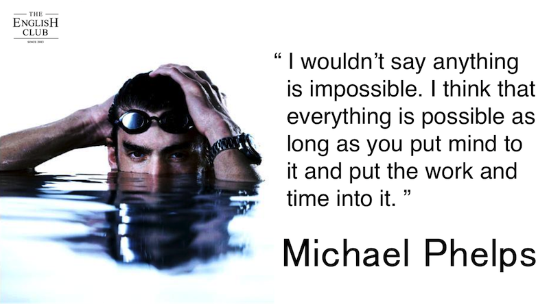 英語の名言:Michael Phelps