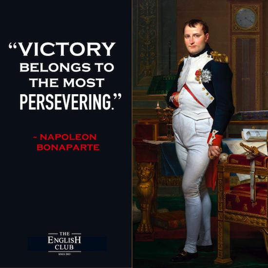 英語の名言:Napoleon Bonaparte