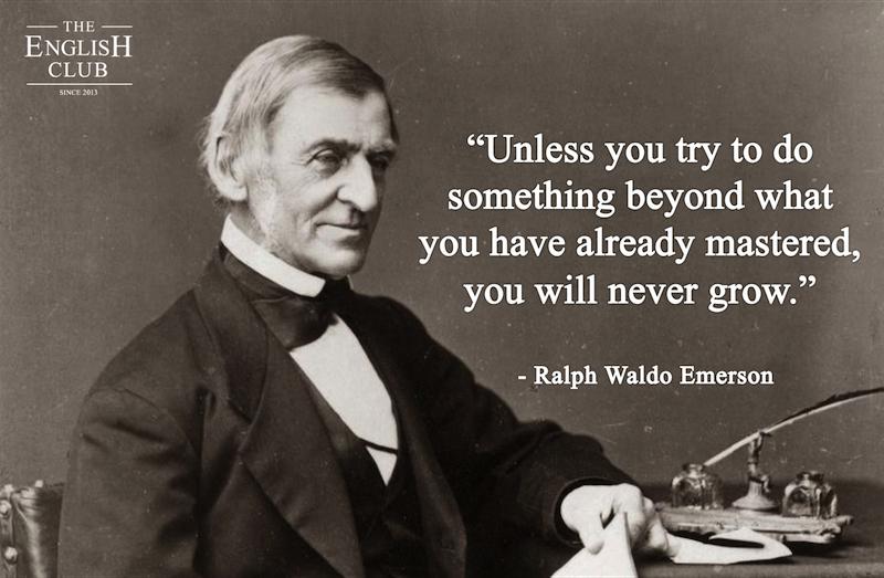 英語の名言:Ralph Waldo Emerson