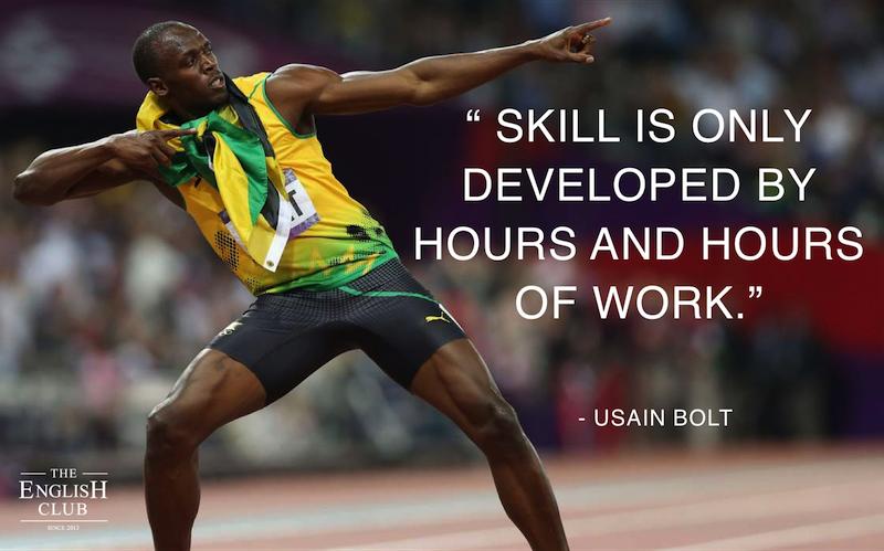 英語の名言:Usain Bolt