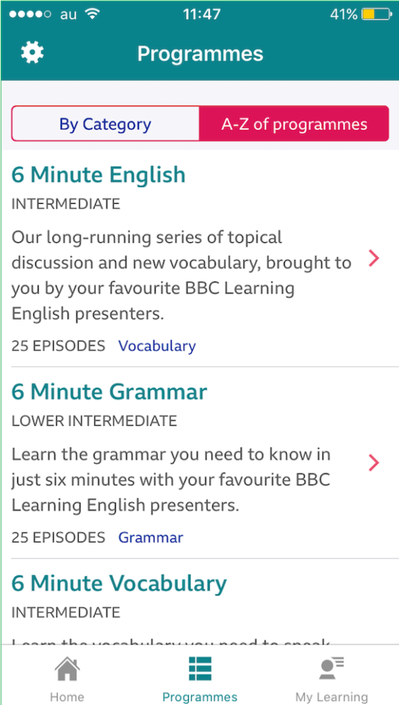 BBC Learning English App2