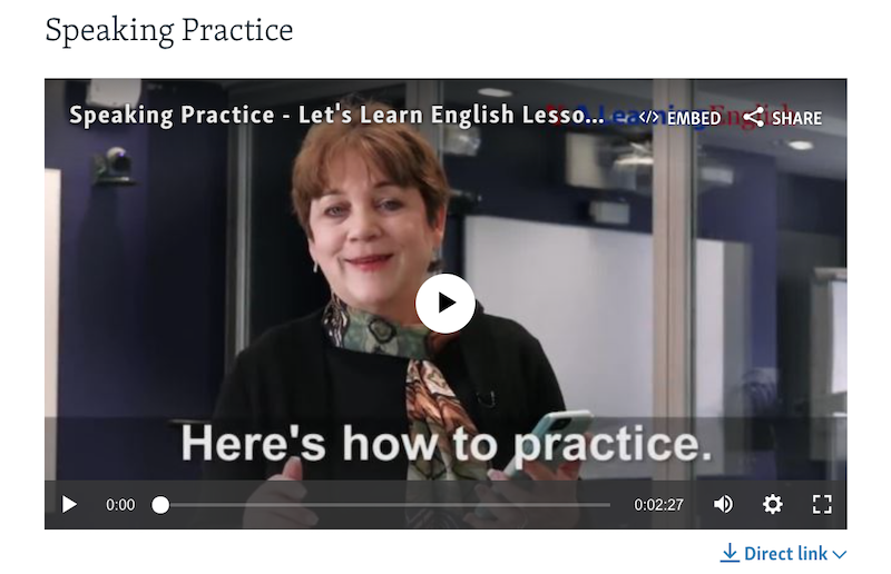 VOA Learning English - Speaking Practice