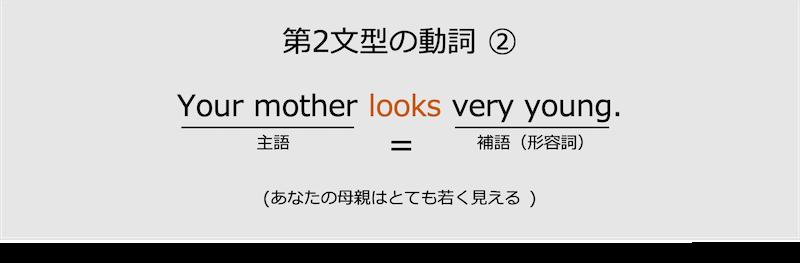 第2文型の動詞look